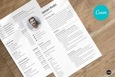 Resume CV Template Canva, Professional Modern Resume Template for Canva, Clean Modern Executive Resume Template, CV Template Easy to edit your resume Add, replace, remove, create new section Editable photo Change description based on your profession Executive Resume Template, Modern Resume Template, Resume Templates, Cv Design, Resume Design, Free Design, Cover Letter Pdf, Resume Cv, Photoshop Plugins