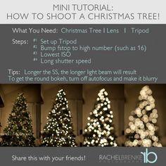 How To Shoot Christmas Tree Lights