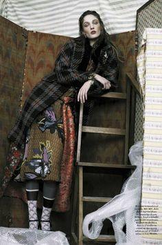 Franzi Mueller by Fanny Latour-Lambert for L'Official France March 2015