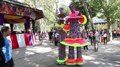 Video about Clowns on stilts in the park Cismigiu, Bucharest, Romania. Video of bucharest, clip, entertainer - 77396954
