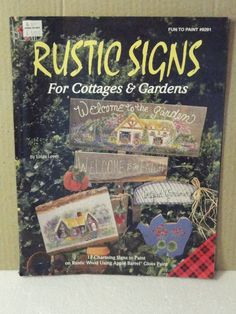 Tole Painting Book Rustic Signs by SupplyStore4U on Etsy, $2.50
