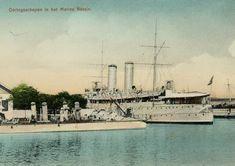 Soerabaja, oorlogsschepen in het Marine Bassin, 1898