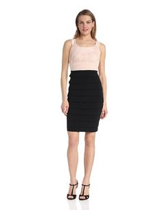 Jax Women's Sleeveless Rouched Top Banded Dress, Black/Shell, 10 Jax,http://www.amazon.com/dp/B00F0MGIM2/ref=cm_sw_r_pi_dp_tV1utb1APJJFZGWY