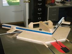 Miter Sled by sedcokid -- Homemade table saw miter sled constructed from plywood, lumber, T-track, and locking knobs in accordance with online plans. http://www.homemadetools.net/homemade-miter-sled