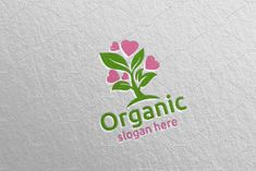 Love Natural and Organic Logo 37 by denayunebgt on @creativemarket