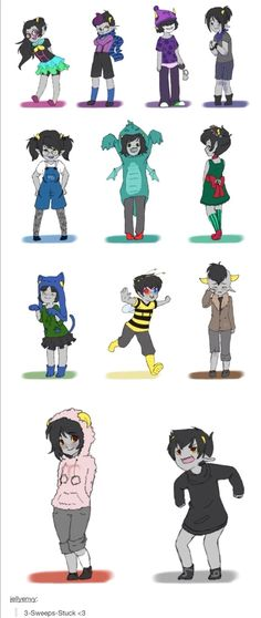 THESE ARE TOO ADORABLE! I JUST WANT TO HUG THEM ALL! OMFG LOOK AT SOLLUX! AND NEPETA I CAN'T EVEN!