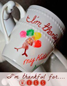 $1 Store Mugs & Sharpies (I'm thankful for…) Mugs  