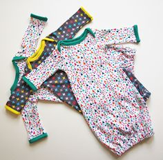 Newborn sleep gowns from free pattern at Stitched Together