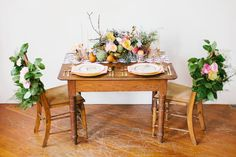 Pastel and Gold Floral Inspiration :: sweetheart table