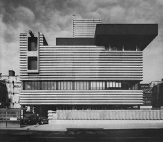Telephone Exchange and Signal Box, Birmingham, England, 1963  (Bicknell and Hamilton)