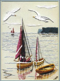 Nautical embroidery kit; $27.25