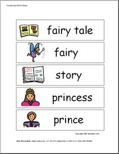 Word Wall Words With Pics For Fairy Tales Freebie Tale Activities