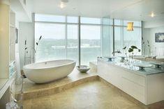 Spa tub! contemporary bathroom by Amelie de Gaulle Interiors