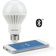 Nyrius Wireless Smart White LED Light Bulb for Smartphones and Tablets, iOS and Android App Remotely Controls On/Off, Scheduling and Dimming Functions, Bluetooth Energy Efficient Home Automation(SB09)