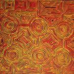 Ronnie Tjampitjinpa, Tingari Dreaming, 2013, acrylique sur toile, 139 x 95 cm.