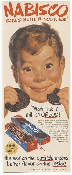 Oreos Ad from 1952 from Hoboken Historical Museum.