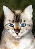Cats | Mary Gibbs Art aquarela