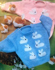 a294347607b0d3 baby knitting pattern cute bunny rabbit jumpers in by ECBcrafts Jumper  Knitting Pattern