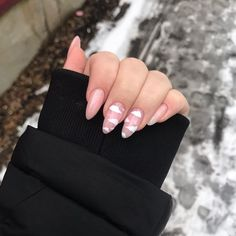 Outstanding Cute acrylic nails are available on our internet site. Check it out and you wont be sorry you did. Aycrlic Nails, Pink Nails, Cute Nails, Hair And Nails, Coffin Nails, Oval Nails, Almond Acrylic Nails, Summer Acrylic Nails, Best Acrylic Nails