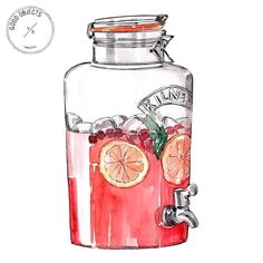 Good objects - @kilner_uk drink dispenser from @depto51 #goodobjects #watercolor #illustration