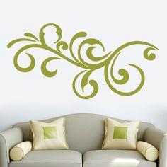 Sweetums Decorative Scroll Flourish Wall Decal 60-inch wide x 30-inch tall