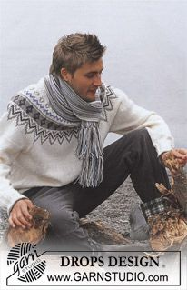 Ravelry: a Pullover in Karisma Superwash pattern by DROPS design Sweater Scarf, Pullover Sweaters, Men Sweater, Magazine Drops, Fair Isle Pattern, Fair Isle Knitting, Mens Fall, Drops Design, Knit Fashion