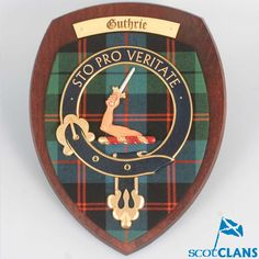 Large Guthrie Clan Crest Plaque