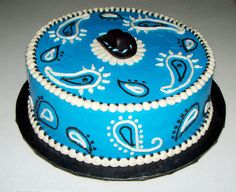 Blue Bandana Birthday Cake Image Inspiration of Cake and