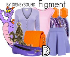 Get the look!  Figment (EPCOT's Journey into Imagination)  http://disneybound.tumblr.com/