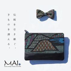 MAIkimonoクラッチバッグシリーズ C-black