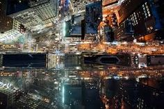 Image result for birds eye view city night