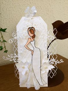 Another beautiful doll Prima Paper Dolls, Prima Doll Stamps, Card Tags, Gift Tags, Handmade Tags, Paper Tags, Tag Art, Wedding Cards, Cardmaking