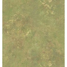 A glorious sage green wallpaper with subtle woven texture effects, complete with classy, vintage damasks. A gorgeous addition to walls, creating depth and elegance, this wallpaper highlights a solid sheet vinyl construction that adds depth and character.