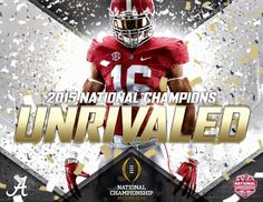 What an unbelievable game! Alabama Athletics, Alabama Football Team, Championship Football, Fall Football, Crimson Tide Football, University Of Alabama, National Championship, Alabama Crimson Tide, College Football