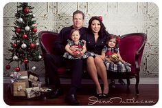 I love this for a Christmas mini session and I have the red couch!!