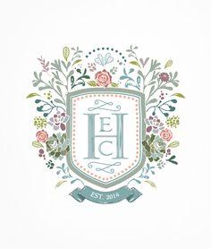 Custom Heraldry Wedding Invite by Arabella June, via Behance