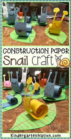 An Easy Snail Craft for Kids with a FREE Printable Template! {preschool, art, forest, bugs, creepy crawlies, projects, toddlers, ideas, templates, printables, kindergarten, animals, spring, summer, cool, construction, paper, simple, prek, kinder}