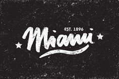 Miami Caligraphy Vector Template by @Graphicsauthor