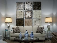 using ceiling tiles as headboard - Google Search