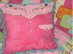 Bedroom on Hot Pink And Purple Western Cowgirl Comforter Set   Girls Bedding With
