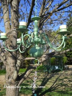 make an outdoor chandelier for you next bbq, lighting, outdoor living, Add candles in the cups for nighttime ambience Outdoor Chandelier, Candle Chandelier, Chandeliers, Gazebo, Pergola, Old Lights, Outdoor Living, Outdoor Decor, Outdoor Ideas