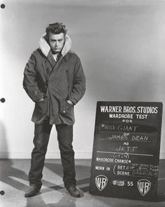 Warner Bros Studio Wardrobe test for James Dean, 1955