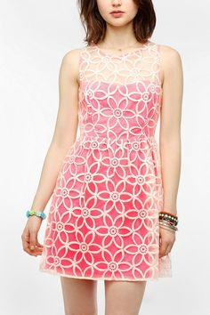 Neon Party Dresses | ... & Chance Neon Embroidered Party ... | Fashion: Dresses: C