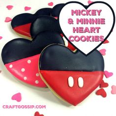 Mickey Mouse Valentine's Day Disney Cookies