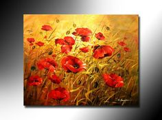 Free shipping.Floral paintings.Painting oil on canvas.High quality abstract art knife painting, wall picture-in Painting  Calligraphy from Home  Garden on Aliexpress.com $58.00