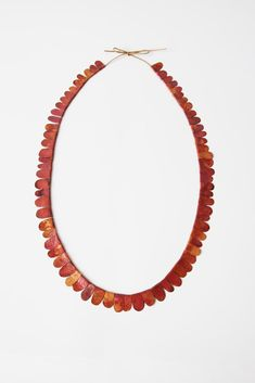 Beautiful scalloped necklace + + + Julia Walter Jewellery, forest #1 necklace material: copper, cotton string.