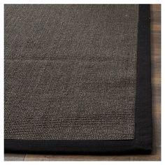 Klara Natural Fiber Area Rug - Charcoal (Grey) / Charcoal (11' X 15') - Safavieh, Durable
