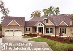 The best Craftsman house floor plans. Find 1 story Craftsman cottage style designs, modern Craftsman homes w/photos & more! Call for expert help. Craftsman Farmhouse, Craftsman Style House Plans, Ranch House Plans, Best House Plans, Dream House Plans, House Floor Plans, Dream Houses, Cat Houses, Craftsman Ranch