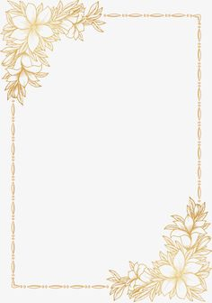 Invitations Decorative elements PNG and Vector Flower Background Wallpaper, Framed Wallpaper, Flower Backgrounds, Wallpaper Backgrounds, Page Borders Design, Border Design, Wedding Invitation Background, Wedding Invitations, Gold Pattern