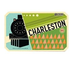 grain edit · Brad Woodard #illustration #vector #train #travel #vintage look
